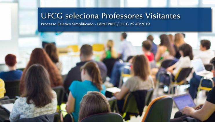 UFCG seleciona Professores Visitantes